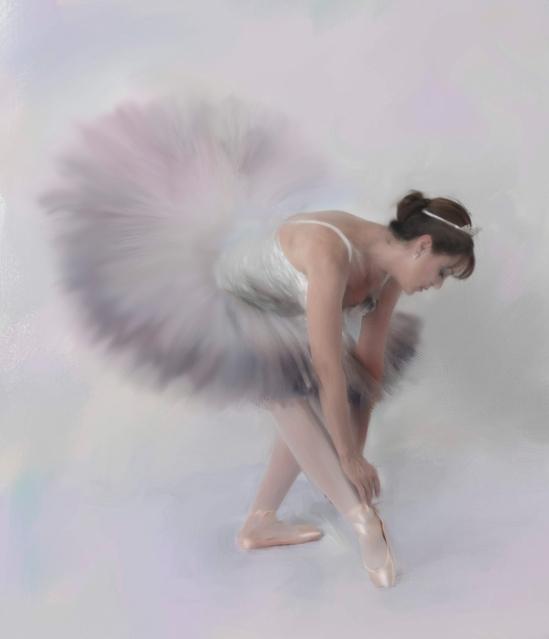 Ballet dancer painting finished 1a