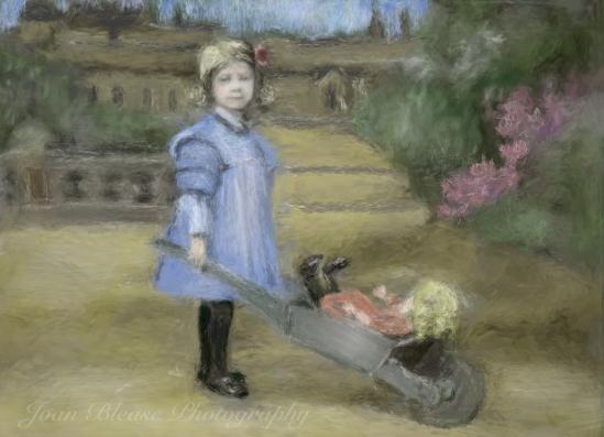 Little Girl and barrow 1