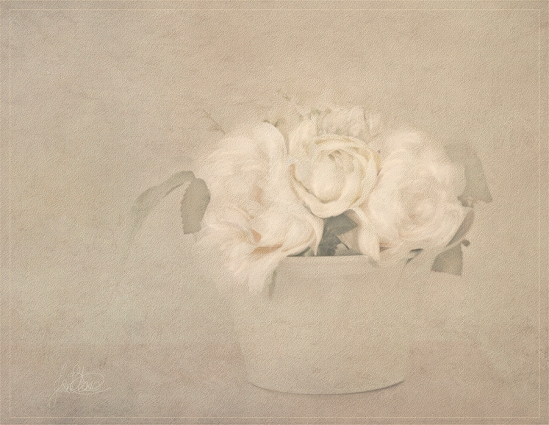 Bowl Of Flowers Pastel 1b