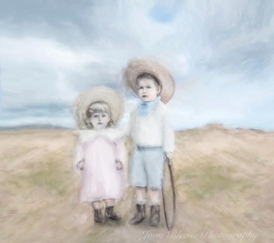 Boy & Girl On The Beach 1